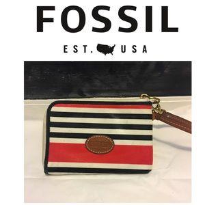 Fossil Zip Around Wristlet